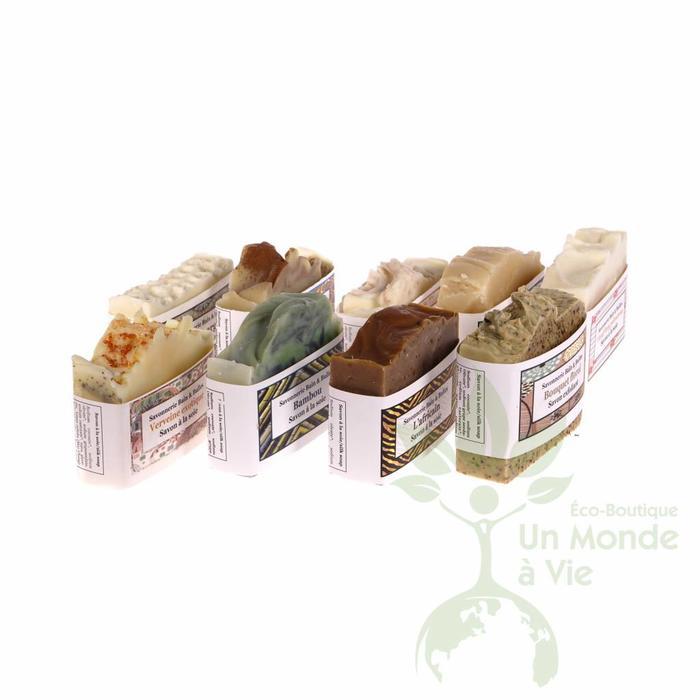 Barres de savon à la soie aux huiles essentielles