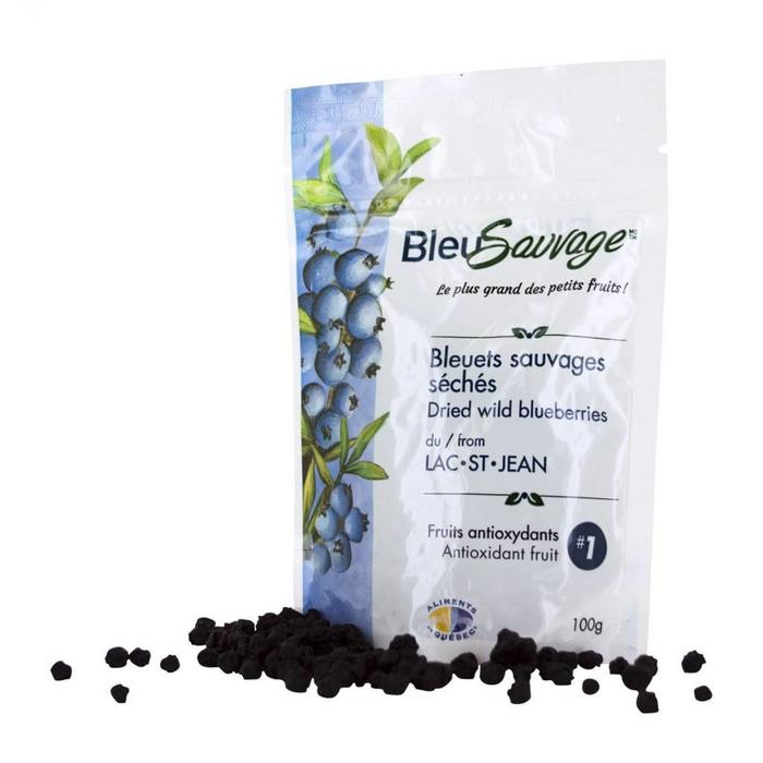 Bleuets sauvages seches 100g