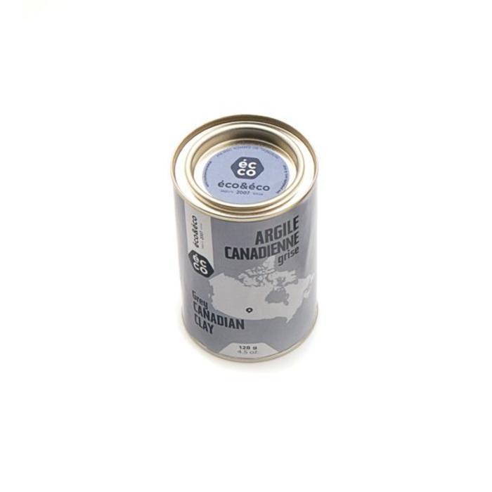 Argile canadienne grise pour peau grasse 128g