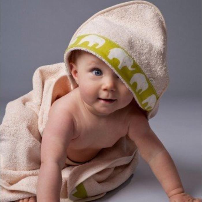 Serviette a capuchon bio pour bebe