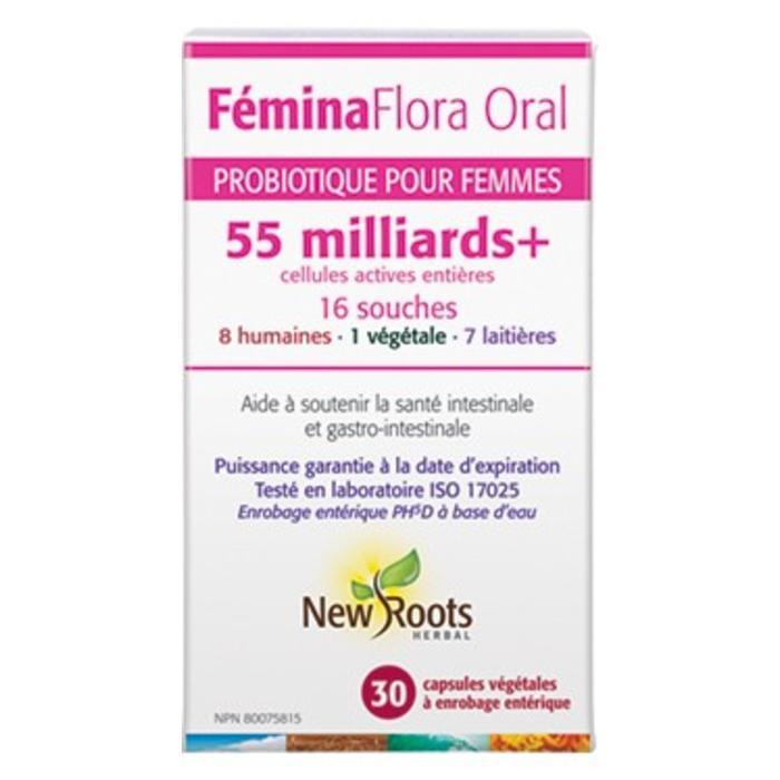Probiotiques pour femme FeminaFlora 55 milliards 16 souches 30 caps