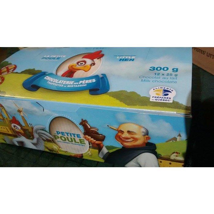 Poule en chocolat 25g (bte 12)