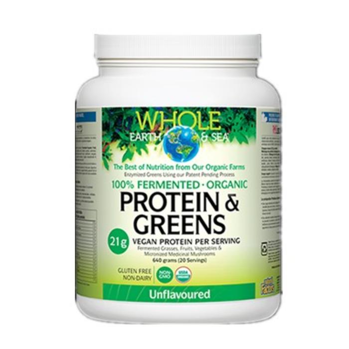 Protéines et aliments verts bio 640g