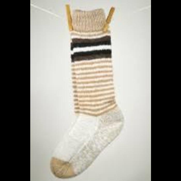 Bas de laine alpaga double epaisseur réversible S-M-L-XL