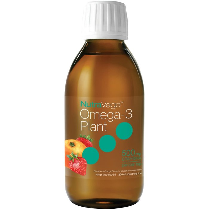 NutraVege omega-3 plante orange-fraise (500 mg) 200ml