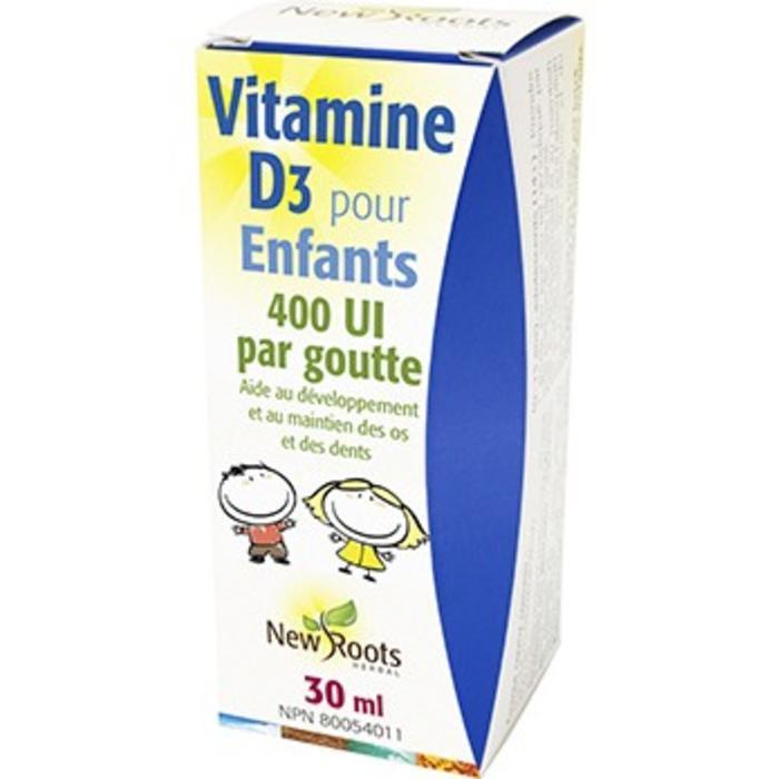 Vitamine D3 liquide pour enfants 30 ml