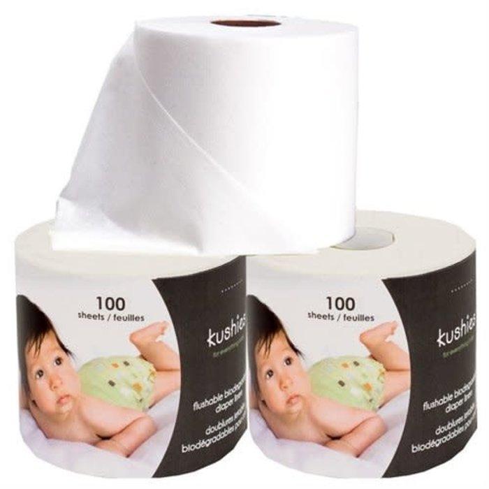 Feuillet (100)  pour fond de couche lavable