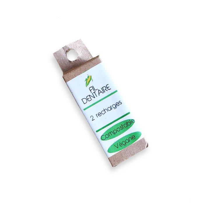 2 recharges de fil dentaire végane compostable