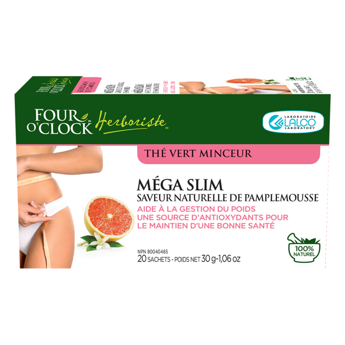 The vert minceur Pamplemousse 20 sachets Mega Slim