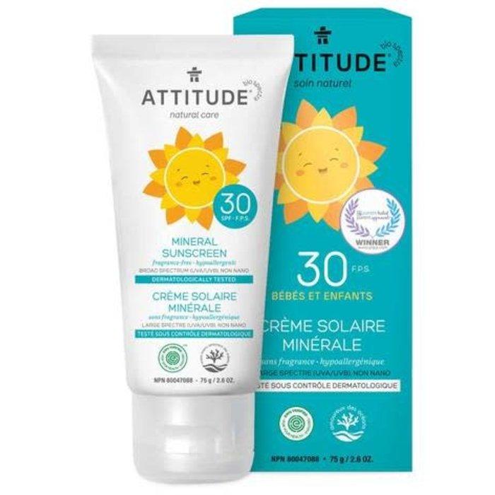 Crème solaire sans fragrance bébé FPS 30 75g