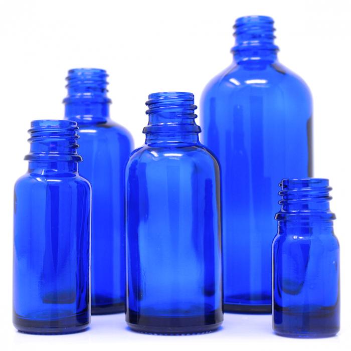 Bouteille de verre bleue