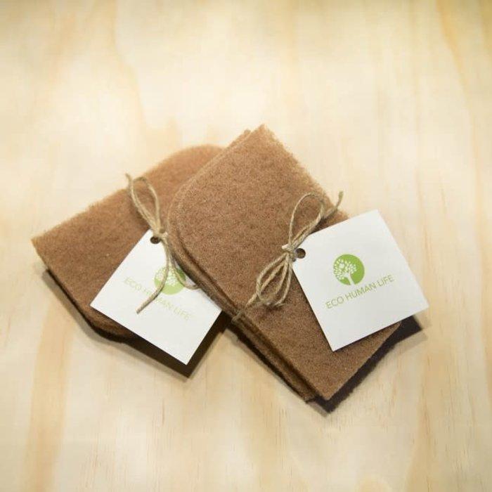 Tampons à récurer à base de noix - paquet 3
