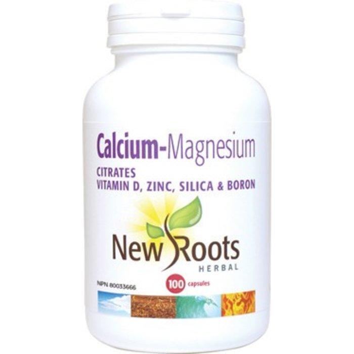 Calcium-magnesium avec citrates, vit. D, silice, bore 100 capsules