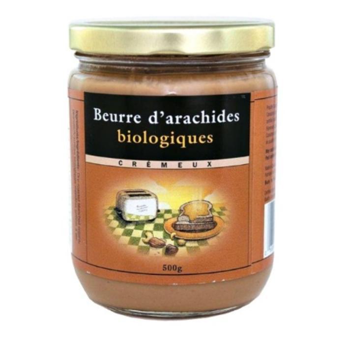 Beurre d'arachides blanchies, cremeux bio 500g