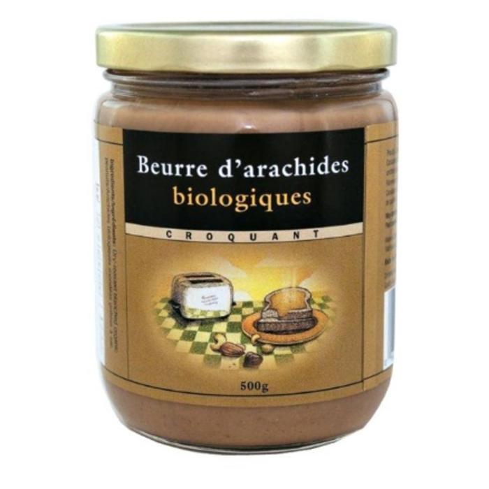 Beurre d'arachides blanchies, croquant bio 500g