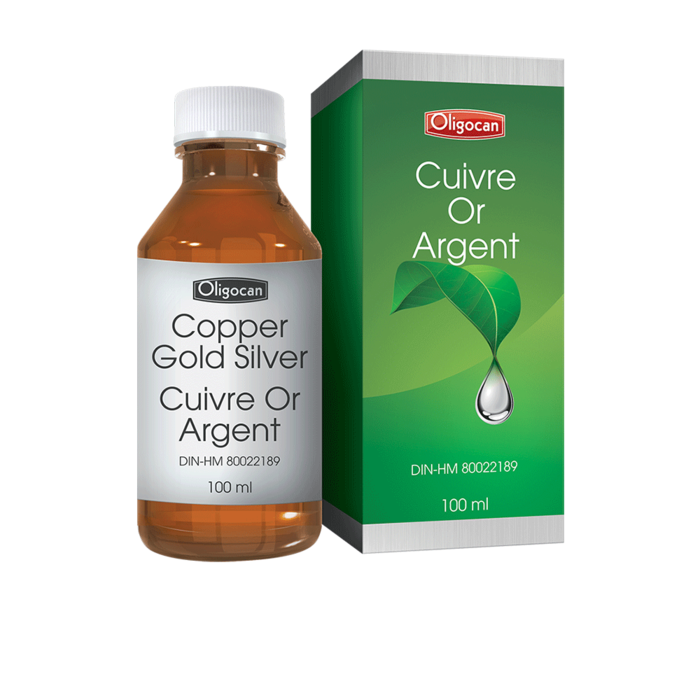 Cuivre, or,argent 100ml