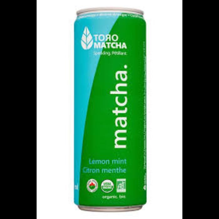 Matcha petillant citron menthe bio 355ml
