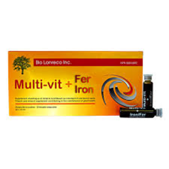 Multi-vit + fer 10ml - 20 ampoules