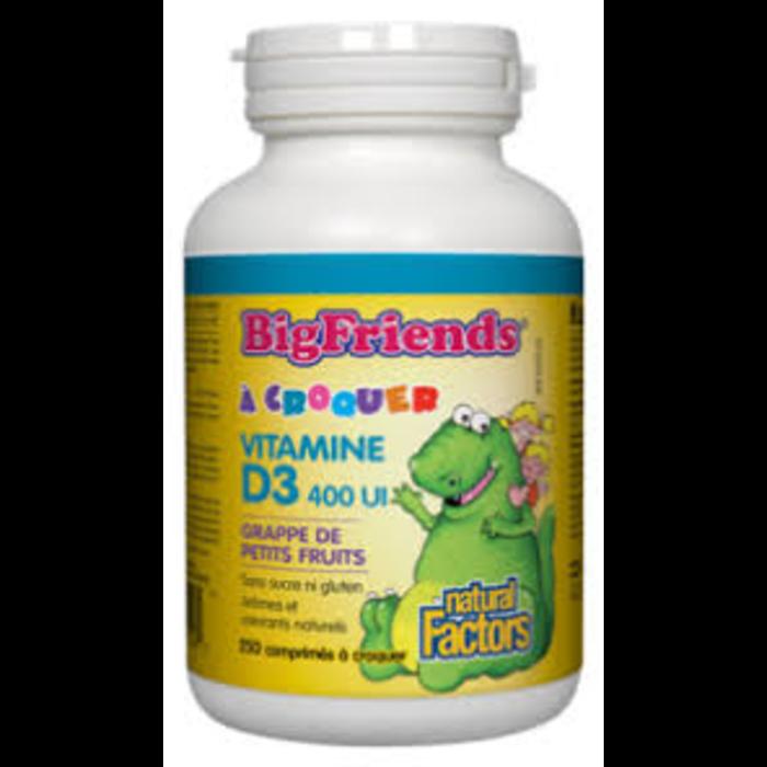 Vitamine D3 400ui 250 comprimés à croquer
