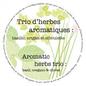 """Pot 7"""" trio biologique - herbes aromatiques"""