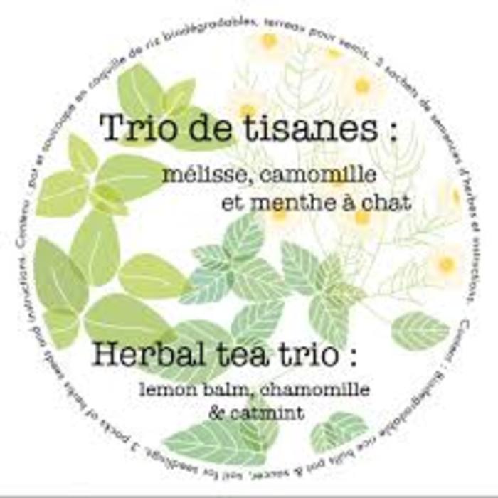 "Pot 7"" Trio biologique- tisanes"