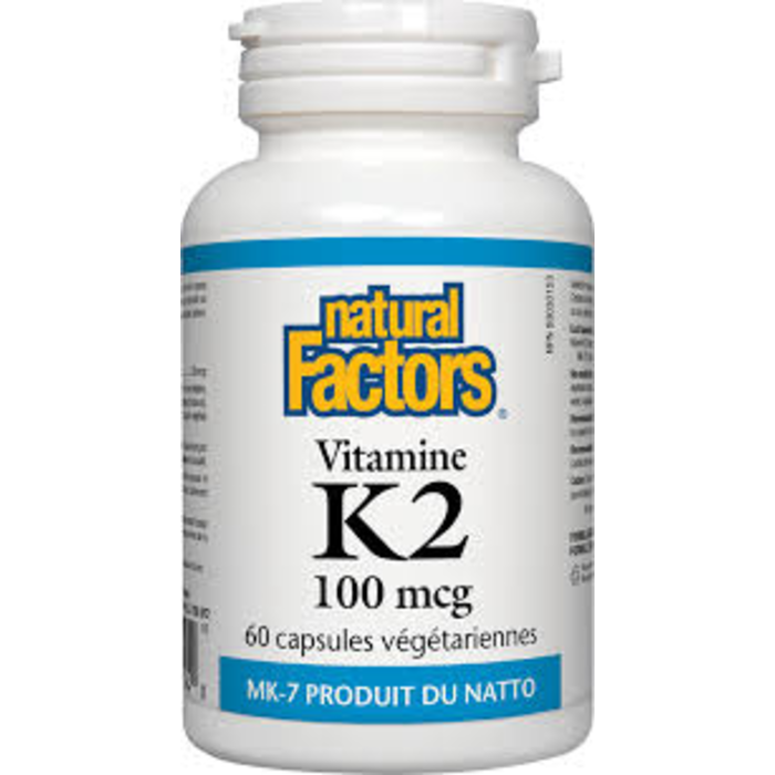 Vitamine K2 100mcg 60 capsules
