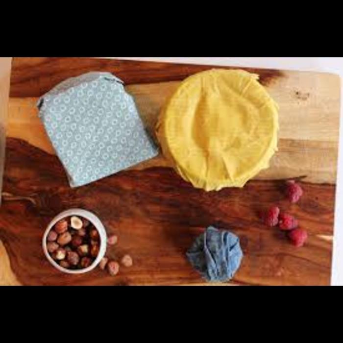 Ensemble Pellicule alimentaire en coton bio format petit