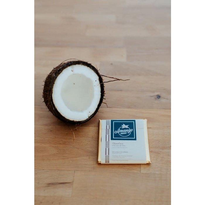 Barre de chocolat 35g  noix de coco 63%