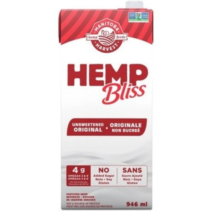 Lait de chanvre Hemp Bliss original non sucré 946 ml