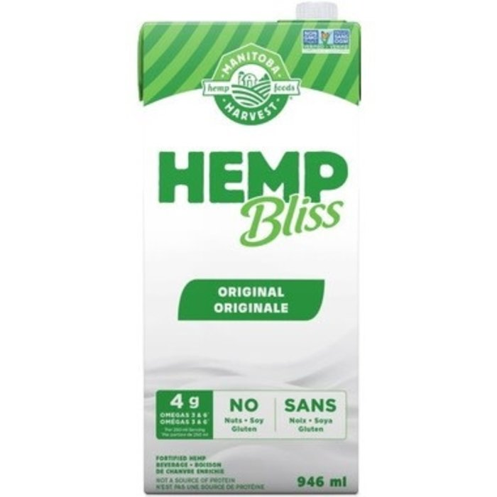 Lait de chanvre Hemp Bliss original (sucré) 946 ml