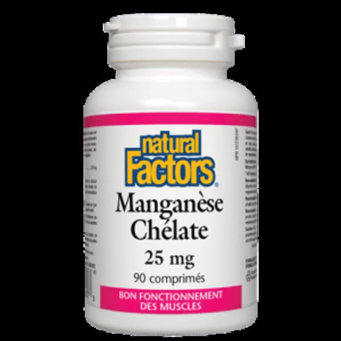 Manganèse Chélate 25mg 90 comp.