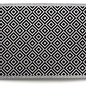 Trio de lingettes essuie-tout reutilisable 24x25cm geometrique