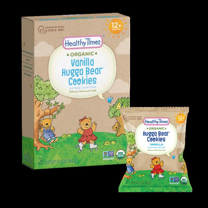 Biscuits Hugga Bear à la vanille bio 184g
