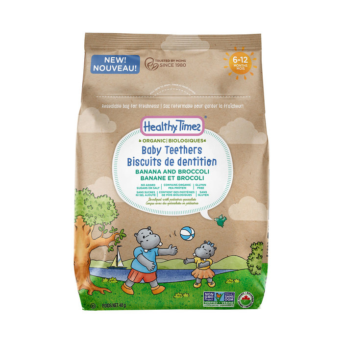Biscuits de dentition banane et brocoli 48g