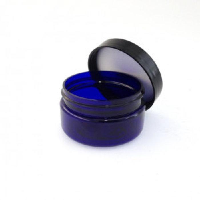 Pot verre bleu 30ml + capuchon
