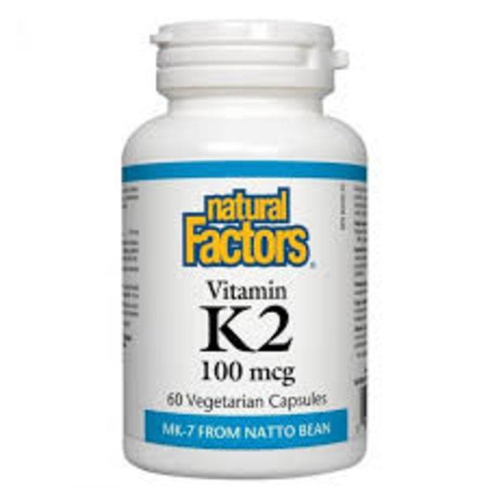 Vitamine K2 100mcg 60 capsules Emballage boni