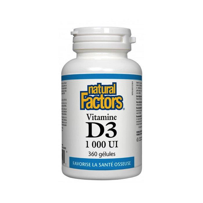 Vitaminde D3 1,000ui 360 gélules