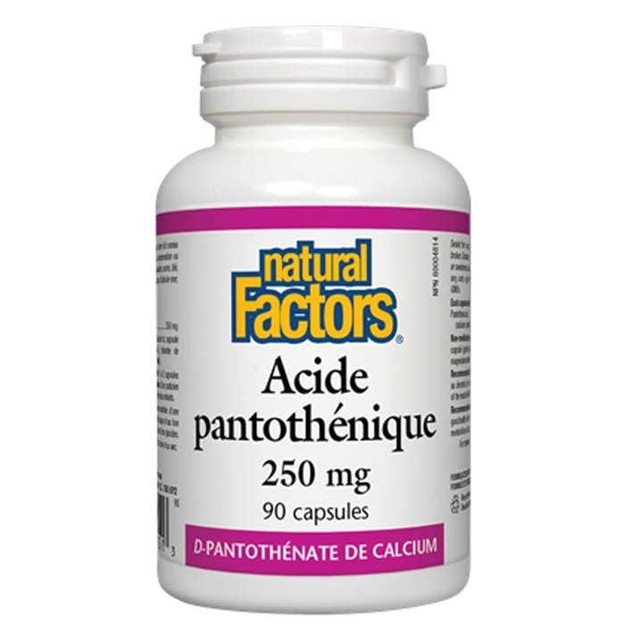 Acide pantothénique 250mg 90 capsules