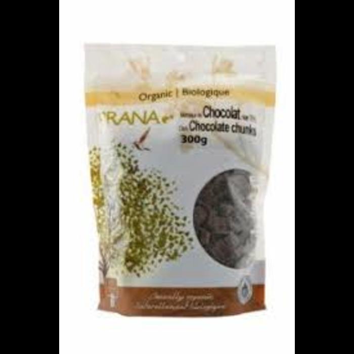 Morceaux de chocolat noir 70% bio