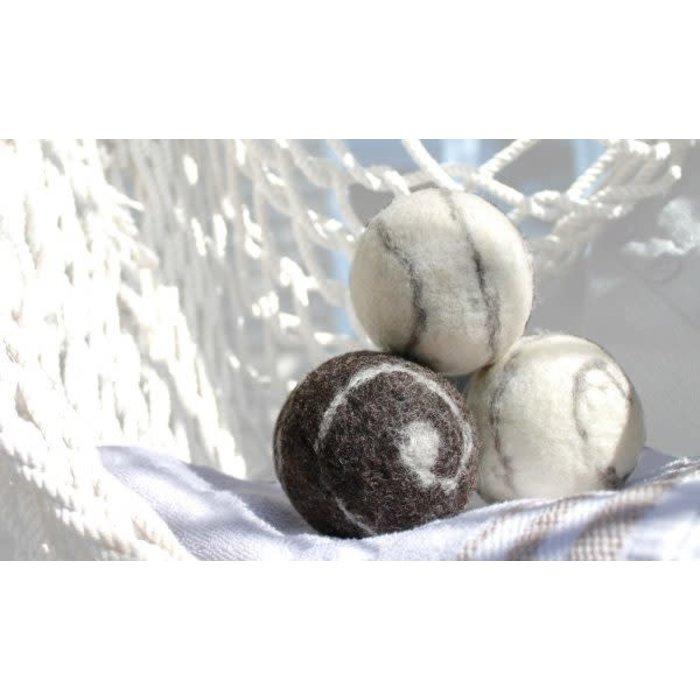 Boule (balle) de sechage vrac (laine) motif spiral