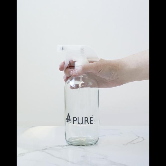 Bouteille en verre avec vaporisateur 500ml