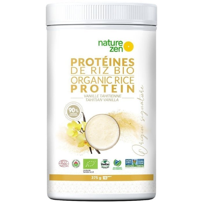 Protéines de riz bio vanille tahitienne 375g
