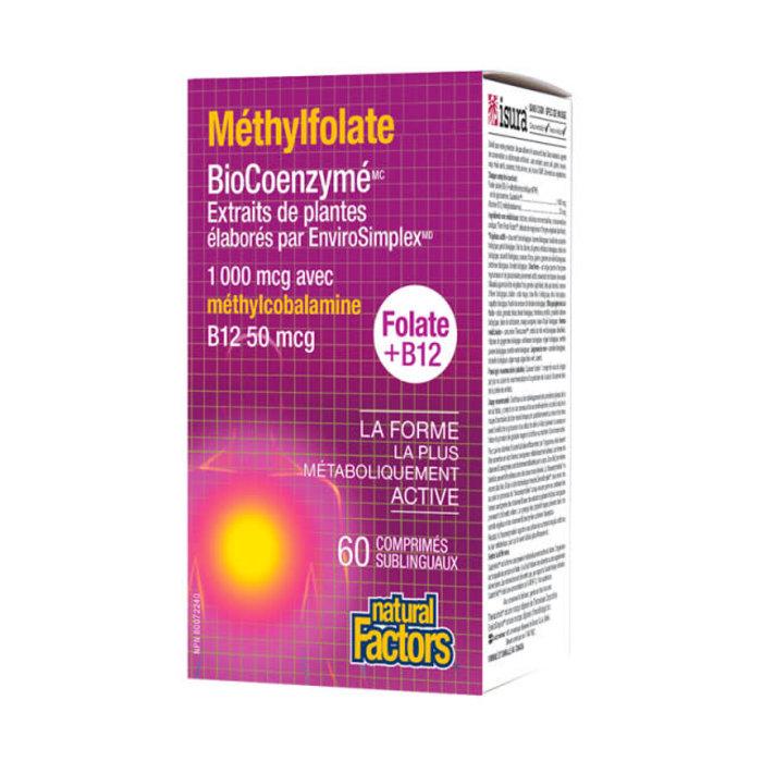 BioCoenz Methylfolate 1000mcg 60 comprimés