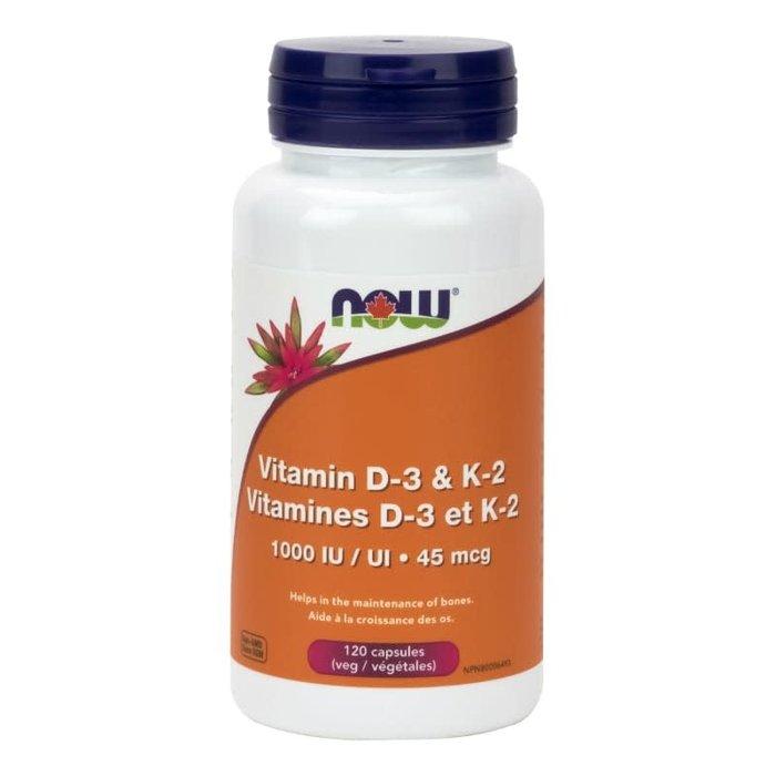 Vitamine D-3 et K-2 120 caps.
