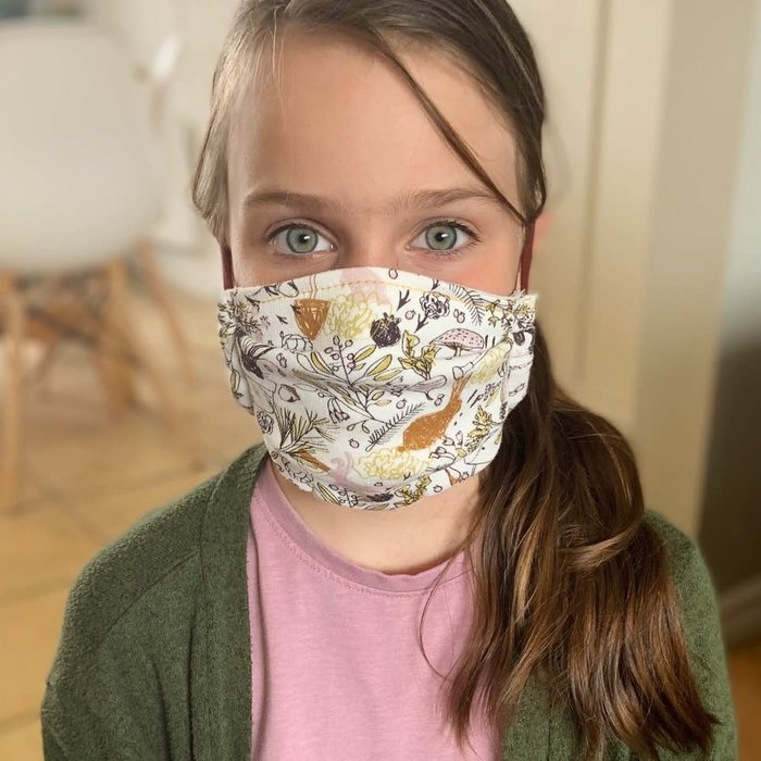 Masque de protection lavable en coton bio