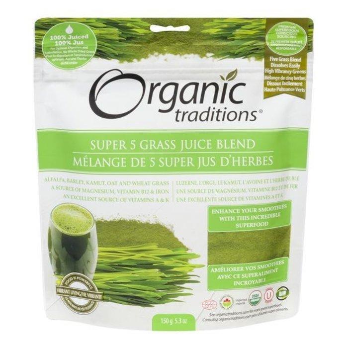 Mélange de 5 super jus d'herbes 150g