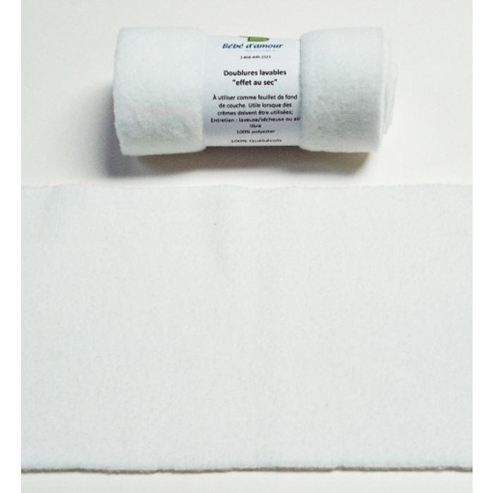 Doublures lavables pour couches