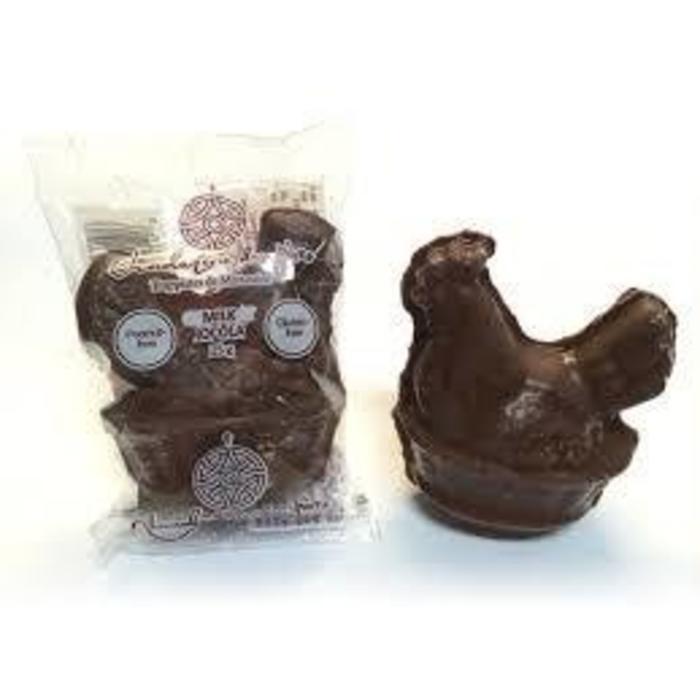 Petite poule au chocolat au lait unité 25g
