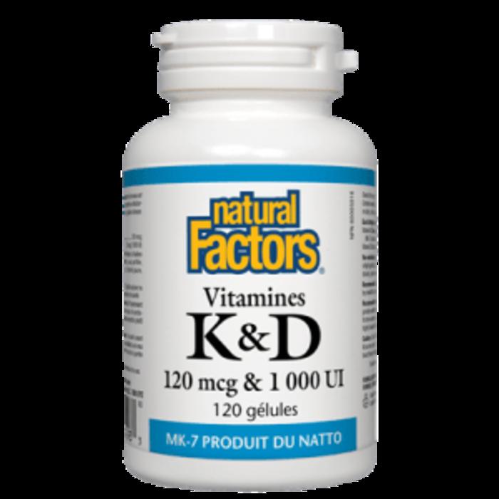 Vitamine K&D 120mcg & 1000UI