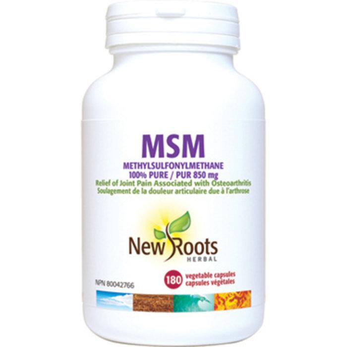 MSM 100% pure 850mg, 180 capsules
